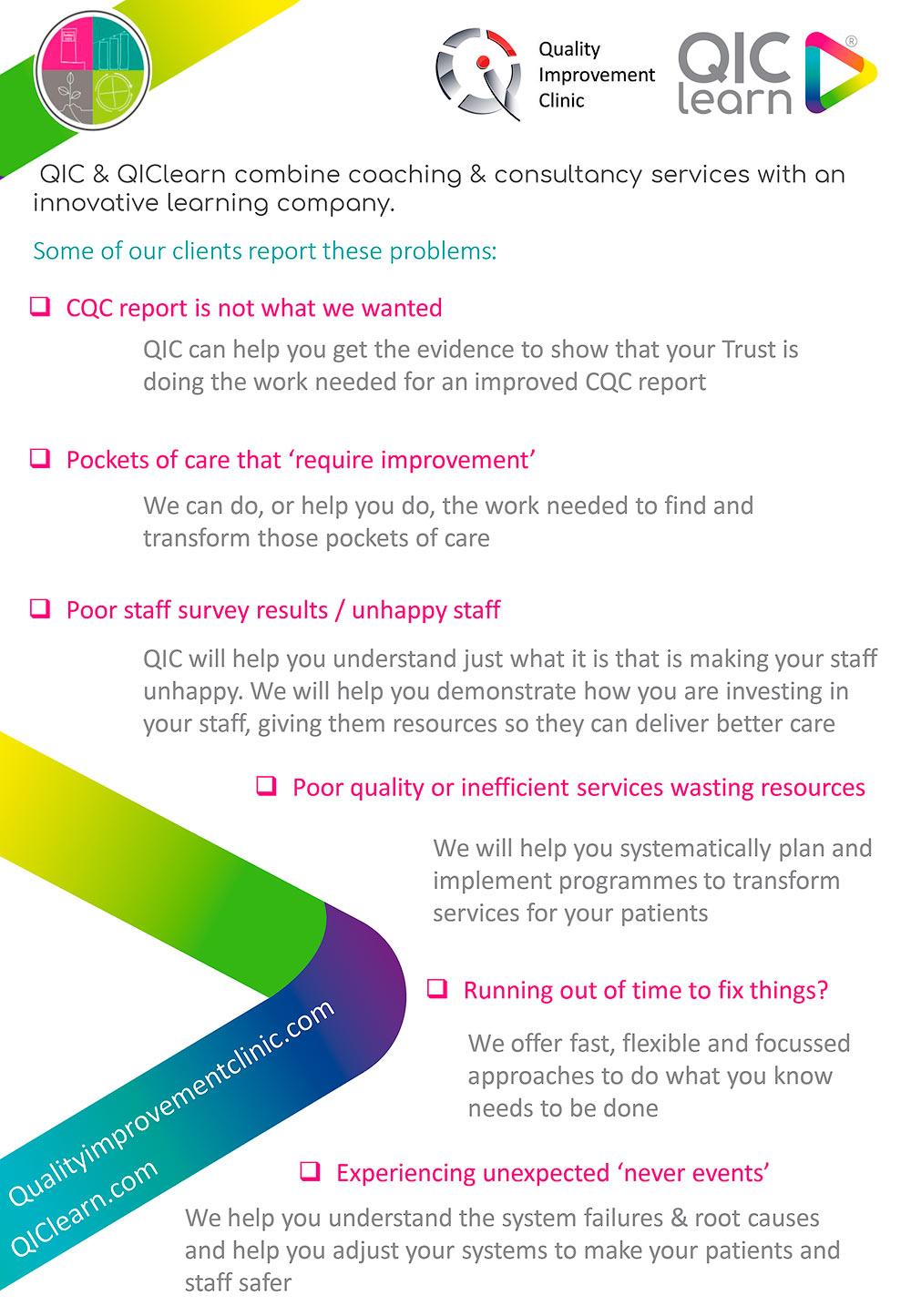 How QIC Can Help | Quality Improvement Clinic